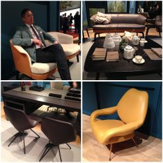 Poltrona Frau @ Milan. Stunning leather upholstered furniture. Oh and Kevin. He works for the Poltrona Group!
