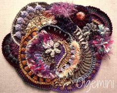 Freeform, irish crochet lace and my heart Art Au Crochet, Crochet Motifs, Freeform Crochet, Irish Crochet, Knit Crochet, Crochet Tops, Crochet Shawl, Yarn Crafts, Crochet Motif