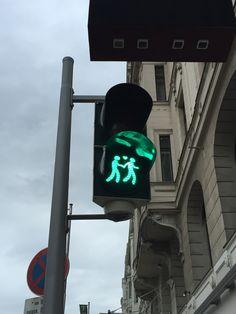 Traffic light at Vienna City!
