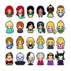 """Résultat de recherche d'images pour """"mini princesse pixel art"""""""