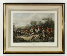 """BROMLEY, """"THE BURY HUNT,"""" ENGRAVING October 25th Unreserved Estate Auction   Official Kaminski Auctions"""