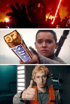 Star Wars The Force Awakens - You're not you when you're hungry. How many people laughed out loud at this and showed it to every one they knew?