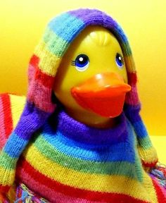 Rainbow Rubber Duck