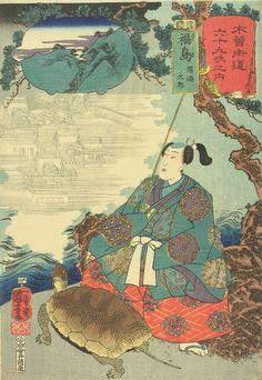 Utagawa Kuniyoshi, Urashima Taro, 1852