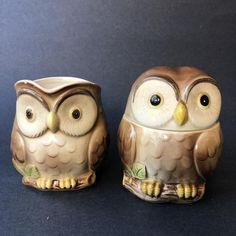 Vintage Owl, Vintage Coffee, Etsy Vintage, Vintage Items, Coffee Creamer Brands, Coffee Creamer Recipe, Owl Kitchen Decor, Ceramic Wall Planters, Cat Statue