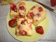 Wypieki Kate: Ciasto drożdżowe z serem i truskawkami - łatwe, szybkie i bez wyrabiania
