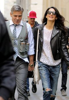 Amal Cloooney looks chic even when dressing for comfort.