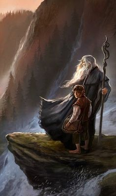 The Hobbit: An Unexpected Journey / Gandalf the Gray & Bilbo Baggins / Wizards & Hobbits / fantasy characters Legolas, Hobbit Art, O Hobbit, Lord Of Rings, The Lord Of The Rings, Hobbit An Unexpected Journey, Film Anime, J. R. R. Tolkien, Tolkien Books