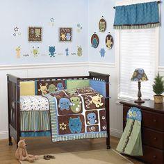 CoCaLo Peek-A-Boo Monsters Crib Bedding Set