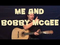 Me and Bobby McGee (Janis Joplin) Easy Guitar Lesson How to Play Tutorial