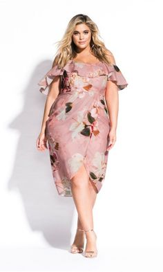 English Roses Shop Women's Plus Size English Rose Dress - rose - Clothing Flattering Plus Size Dresses, Plus Size Outfits, Plus Size Spring Dresses, Plus Size Wedding Guest Dresses, Moda Floral, Big Size Dress, Rose Clothing, Looks Plus Size, Moda Plus Size