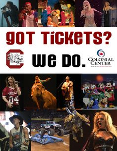 This was a collage from 2004-2005, when we were the Colonial Center.  #CLAevents #ColonialLifeArena #FamouslyHot #ColumbiaSC #SCTweets #CLAambassador #Gamecocks