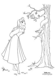 Prinsessa Ruusunen -värityskuva. Sleeping Beauty colouring.   Lasten Oman Kirjakerhon tulostettavat värityskuvat. Free printable pattern. lasten | askartelu | käsityöt | värittäminen | DIY ideas | kid crafts | colouring Coloring Pages, Disney Characters, Fictional Characters, Aurora Sleeping Beauty, Embroidery, Female, Disney Princess, Belle Drawing, Sleeping Beauty