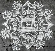Trendy flowers pattern design line Easy Rangoli Designs Videos, Rangoli Side Designs, Simple Rangoli Border Designs, Rangoli Simple, Rangoli Designs Latest, Free Hand Rangoli Design, Rangoli Patterns, Small Rangoli Design, Rangoli Designs Diwali