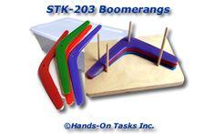 Stacking Plastic Boomerangs Activity