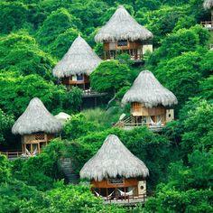 Ecoboende i nationalparken i Colombia kan vara paradiset http://blish.se/fa024dbe48 #ecoturism #colombia #naturupplevelser #tayrona