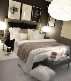 cozy grey and white bedroom ideas; bedroom ideas for small rooms; bedroom decor on a budget; bedroom decor ideas color schemes home decor on a budget Grey And White Bedroom Ideas On A Budget Budget Bedroom, Room Ideas Bedroom, Small Room Bedroom, White Bedroom, Bed Room, Bedroom Bed, Bedroom Designs, Bedroom Furniture, Cozy Bedroom Decor