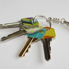 Key covers with washi tape this would be great too separate my keys from my hubbys