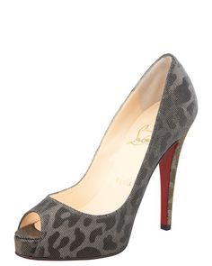 Very Prive Lame Pump by Christian Louboutin at Bergdorf Goodman.
