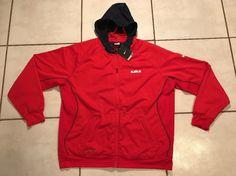 NWT NIKE Therma-Fit Lebron James RED Hoodie Jacket Men's 2XL  | eBay