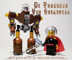 Steampunk villain & bot | Flickr - Photo Sharing!
