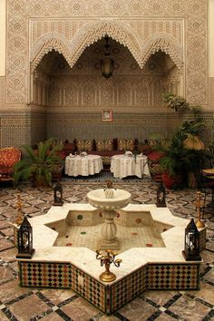 """speaktruthh: """" """" islamic architecture """" sure this is in morocco why we perfect? Moroccan Design, Moroccan Decor, Moroccan Style, Islamic Architecture, Art And Architecture, Architecture Courtyard, Beautiful Architecture, Design Marocain, Landscaping"""