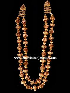 Indian gold beads necklace.Description by Pinner Mahua Roy Chowdhury