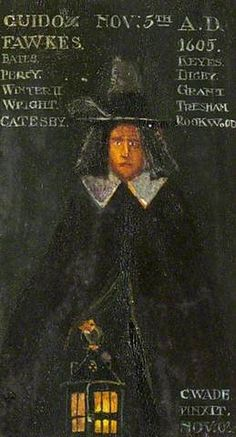 Guido Fawkes (1570–1606)  By Charles Paget Wade  Date Painted: 1901  From: National Trust  After two days of torture, Fawkes confessed, and his co-conspirators who had tried to escape were swiftly killed or captured.     This simple piece in tempera portrays Fawkes and lists the names of his co-conspirators. Whilst only Digby pleaded guilty, most were found to have committed high treason and subsequently executed, with Fawkes himself being hanged, drawn and quartered.