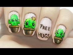 Resultado de imagen para cactus nail art