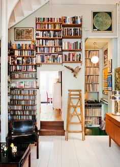 Vintage-Inspired Home Libraries to Envy | For more inspirational ideas about vintage industrial style go to: www.vintageindustrialstyle.com