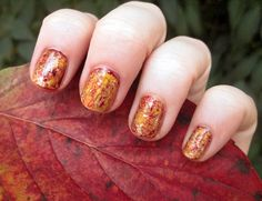 Sexy Red Nail Designs: Awesome Color Red And Gold Autumn Fall Nail Art ~ fixstik.com Nail Colors Inspiration