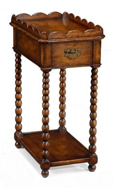 Queen Anne Rectangular Lamp Table from Jonathan Charles (493043), $851.00