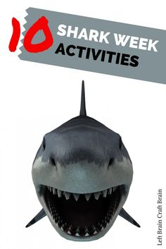 10 Shark Week Activities Left Brain Craft Brain 10 Shark Week Activities like games, food and crafts. Even shark nail art! Shark Nail Art, Math Activities For Kids, Shark Games For Kids, Shark Activities, Preschool Ideas, Teaching Ideas, Brain Craft, Shark Bait, Curious Kids