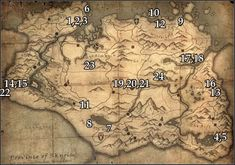 skyrim locations of stones of barenziah map - Google Search