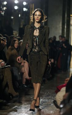i'm a little bit in love with this suit from the pucci fall collection. i fear those pants would make me look stumpy, though :-/