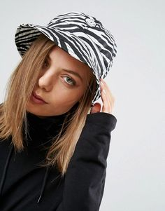 Cheap Monday Bucket Hat in Zebra Print Bucket Hat Outfit 5bdaacdb6602