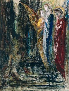 Gustave Moreau, n.d, Job and the Angels