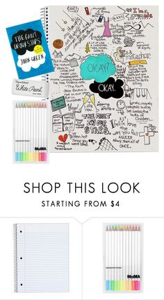 """DIY NOTEBOOK// Amber"" by flower-crown-gurls ❤ liked on Polyvore featuring Mode, Paper Mate und flowercrowngurlamber"