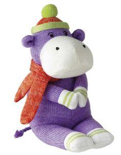 Sock Monkey Doll - Harold Hippo Doll