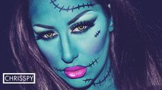 Ahh scary monster-lady Frankenstein-thing!!