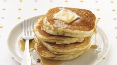 """Nothing says """"weekend"""" like homemade pancakes for breakfast. Our easy pancake recipe will help you whip up this weekend favorite in less than 30 minutes. You'll wonder why you never tried this before! Need recipe inspiration? Sign up for our Everyday Food Newsletter and get our most delicious recipes delivered to your inbox."""