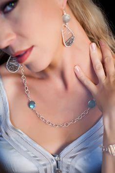 Sterling Silver and Semi-Precious Stones.