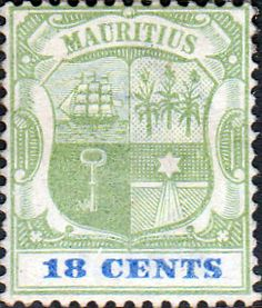 Mauritius Stamps 1895 Coat of Arms SG 130 Fine Used Scott 97 Other Mauritius Stamps HERE