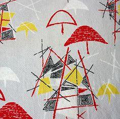Original 1950s Atomic Textile Design
