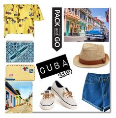 """""""Pack and Go: Cuba!"""" by shealwaysfashion ❤ liked on Polyvore featuring Vera Bradley, Melissa Odabash, Sperry, WithChic and dontforgertofthehat"""