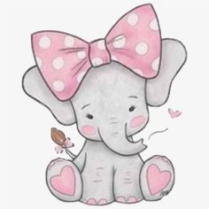 sticker by Discover all images by Find more awesome elephant images on PicsArt. Cute Elephant Drawing, Cute Baby Elephant, Pink Elephant, Elephant Drawings, Baby Elephants, Dibujos Baby Shower, Baby Girl Clipart, Elephant Illustration, Indian Elephant