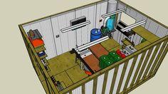 12 x 16 Workshop Shed - 3D Warehouse