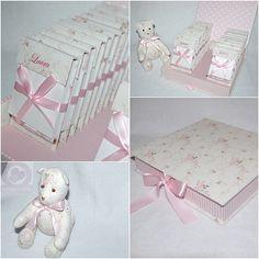 Lembrancinha + caixa + mini urso de tecido