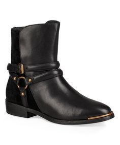 Loving this Black Kelby Leather & Suede Boot - Women on #zulily! #zulilyfinds