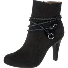 #TAMARIS #Damen #Stiefeletten #´Carradi´ #schwarz Modische Tamaris Carradi Stiefeletten aus weich angerautem Echtleder. Innen besitzen die Schuhe ein leicht gepolstertes Fußbett, das für ein komfortables Laufgefühl sorgt. - Verschluss: Reißverschluss - Schafthöhe an Gr. 37: ca. 11,5 cm - Schaftweite an Gr. 37: ca. 36 cm - Absatzart: Stiletto - Absatzhöhe: ca. 9,5 cm - Plateauhöhe: ca. 1 cm
